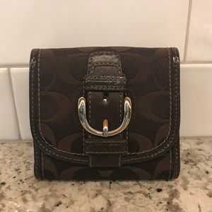 [Coach] Signature Logo Buckle Small Wallet